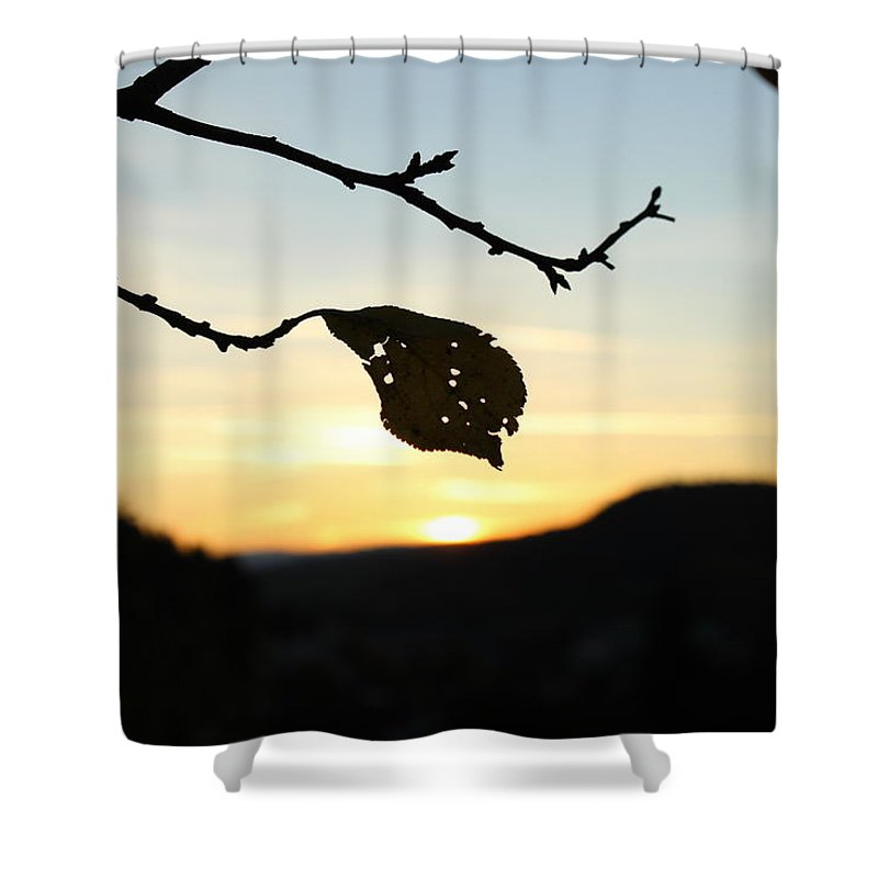 Sunset Shower Curtain featuring the photograph Sunset by Alena Madosova