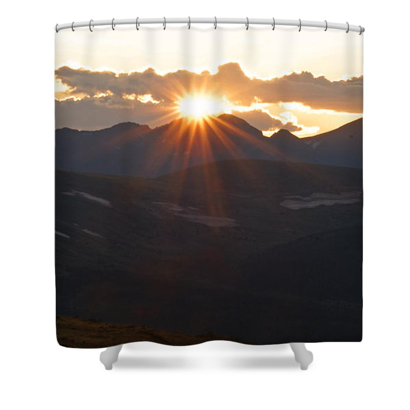 Sunset Shower Curtain featuring the photograph Sunset At 12.000 Feet by Heather Coen