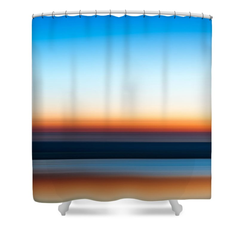 Sunset Shower Curtain featuring the photograph Sunset At Ottawa Lake by Scott Norris