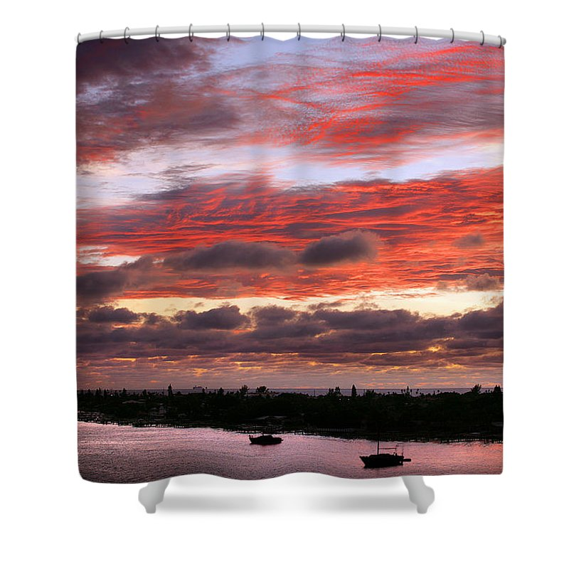 Sun Shower Curtain featuring the photograph Sunset At Pass A Grille Florida by Mal Bray
