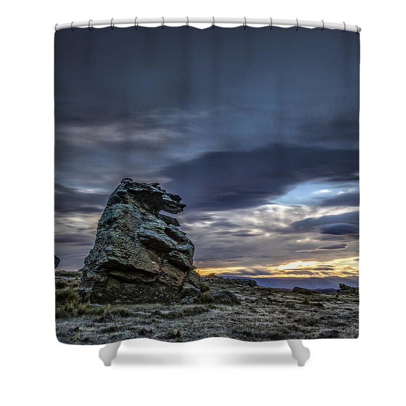 Clouds/sky Shower Curtain featuring the photograph Sunset At Poolburn Reservoir 1 by Robert Green