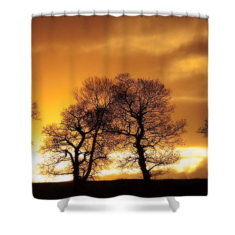 Sunset Shower Curtain featuring the photograph Sunset At Redhill by Bob Kemp