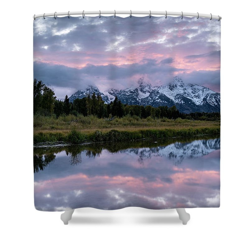 Sunset Shower Curtain featuring the photograph Sunset At Schwabacher by Jeremy Duguid