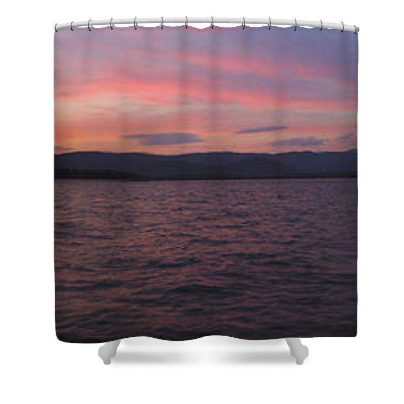Lake Shower Curtain featuring the photograph Sunset At Squam Lake New Hampshire by Nancy Griswold