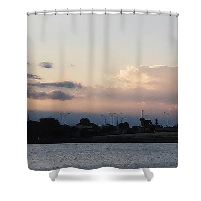 Shower Curtain featuring the photograph Sunset At The Lake2 by John Hiatt