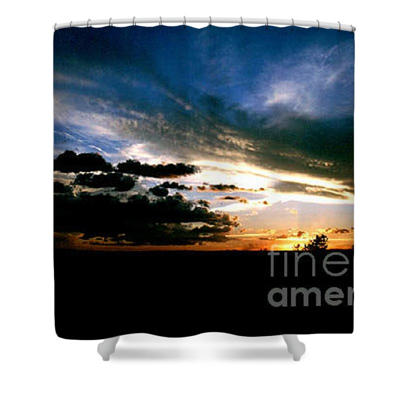 Sunset Shower Curtain featuring the photograph Sunset At The North Rim by Kathy McClure