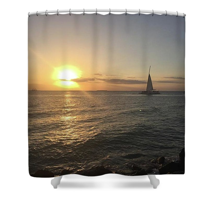 Sunset Shower Curtain featuring the photograph Sunset Beauty by Jonathan Bottomley