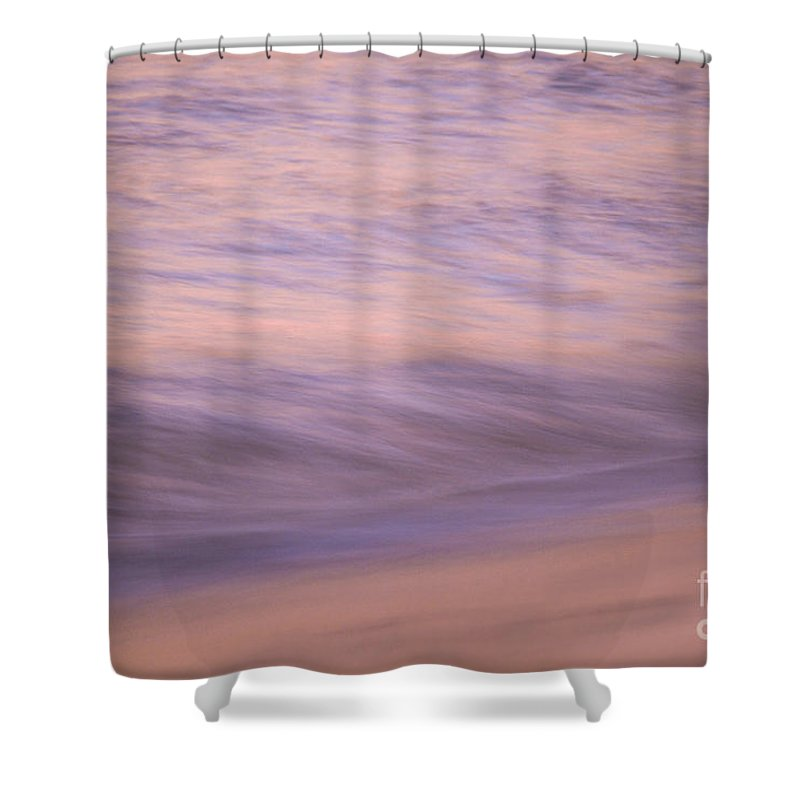 Waves Shower Curtain featuring the photograph Sunset Becomes Water by Jeanne McGee