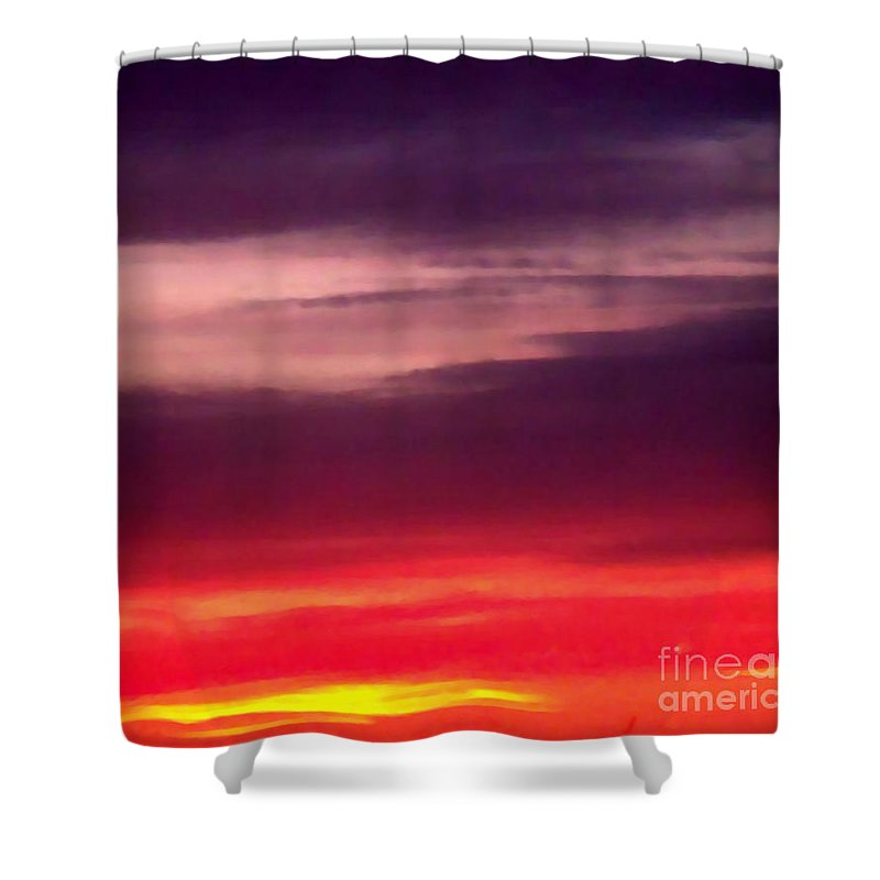 Sunsets Shower Curtain featuring the photograph Sunset C by Brenda L Spencer