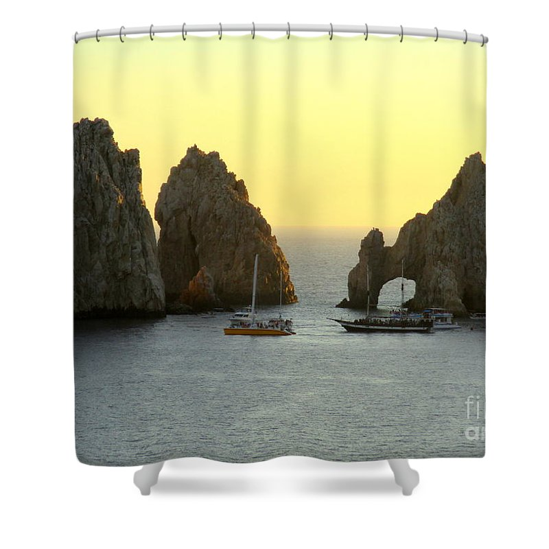 Sunrise Shower Curtain featuring the photograph Sunset Cabo 4 by Randall Weidner