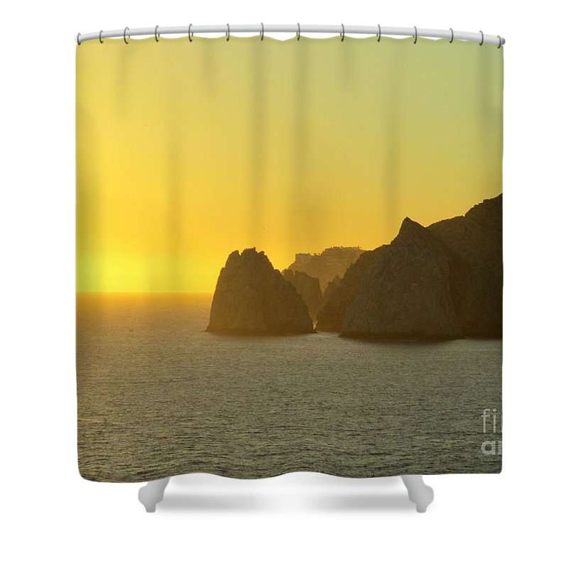 Sunrise Shower Curtain featuring the photograph Sunset Cabo 6 by Randall Weidner
