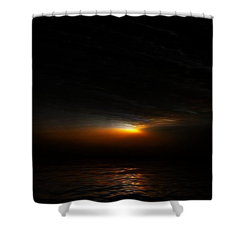 Digital Painting Shower Curtain featuring the digital art Sunset by David Lane