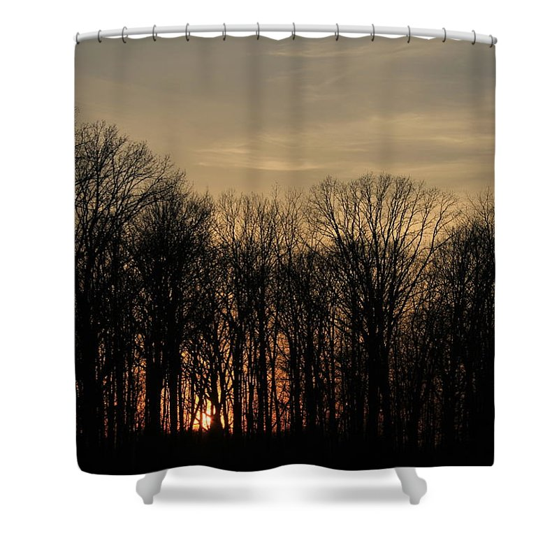 Sunset Shower Curtain featuring the photograph Sunset by David Lyon