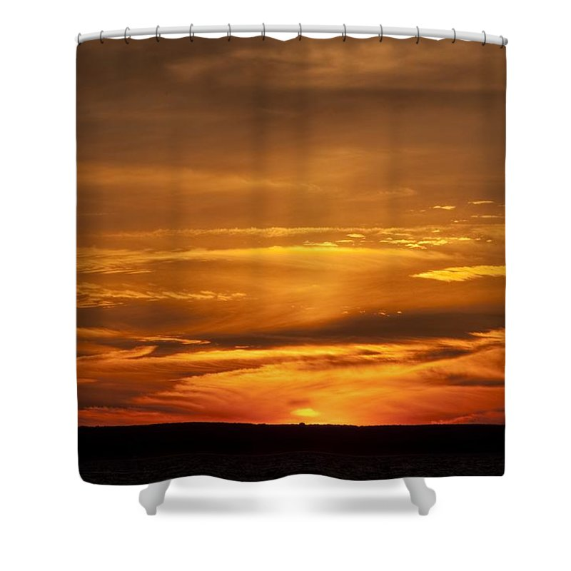 Sunset Shower Curtain featuring the photograph Sunset Gate 17 by Steven Natanson