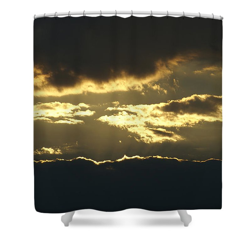 Clouds Shower Curtain featuring the photograph Sunset by Heidi Poulin