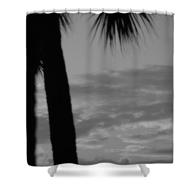 Black And White Shower Curtain featuring the photograph Sunset In Black And White by Rob Hans
