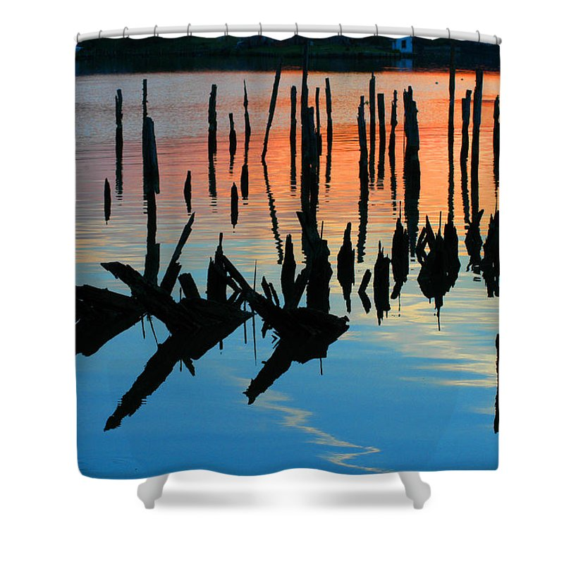 Clay Shower Curtain featuring the photograph Sunset In Colonial Beach Virginia by Clayton Bruster