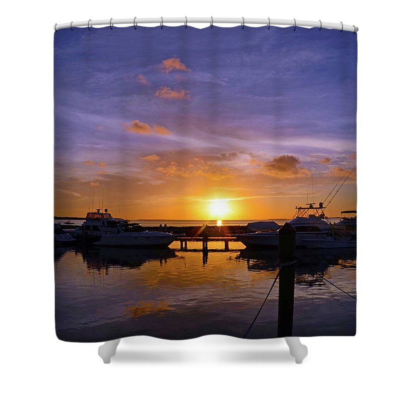 Sunset Shower Curtain featuring the photograph Sunset In Paradise by Chris Kraska