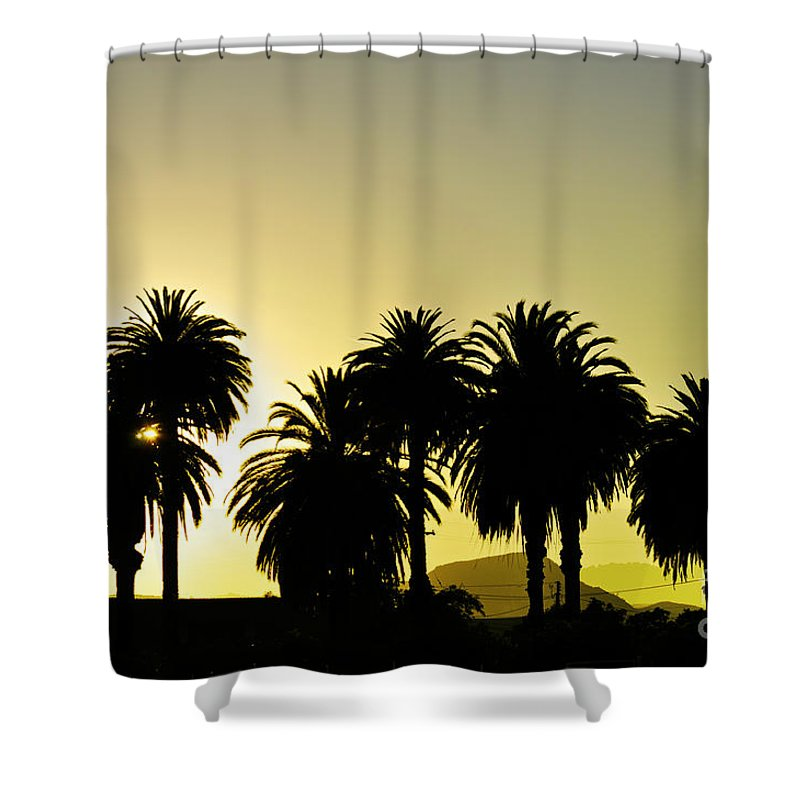 Clay Shower Curtain featuring the photograph Sunset In Socal by Clayton Bruster