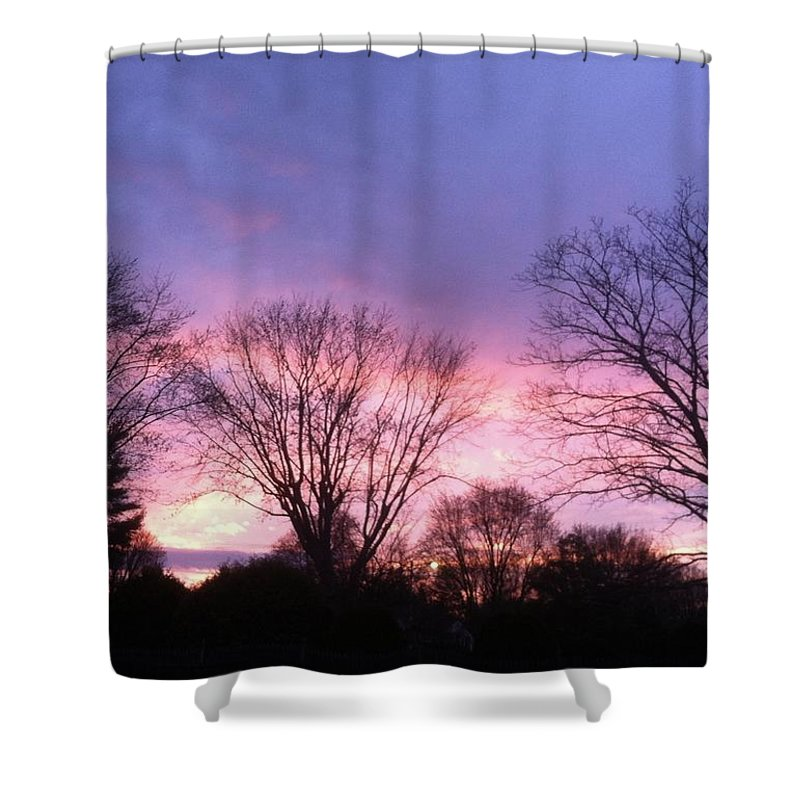 Purple Shower Curtain featuring the photograph Sunset by John Ferrante