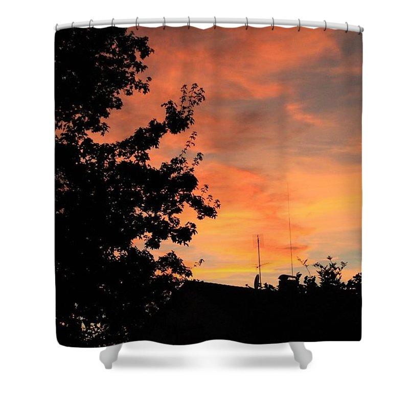 Shower Curtain featuring the photograph Sunset by Lara Webler