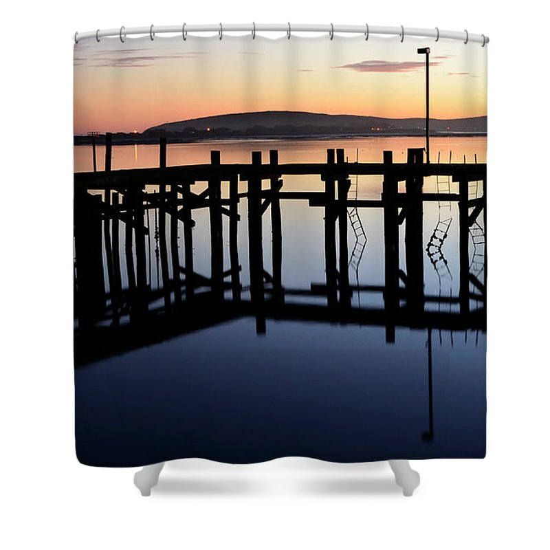 California Shower Curtain featuring the photograph Sunset Magic Bodega Bay California by Bob Christopher