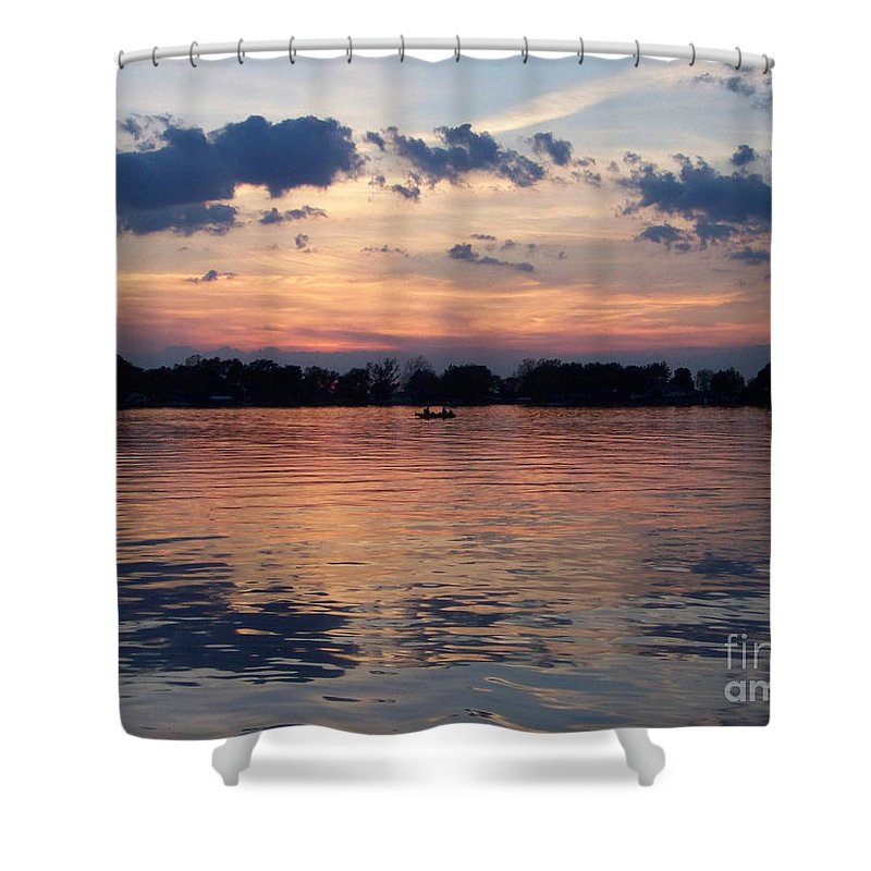 Lake Shower Curtain featuring the photograph Sunset On Lake Mattoon by Kathy McClure
