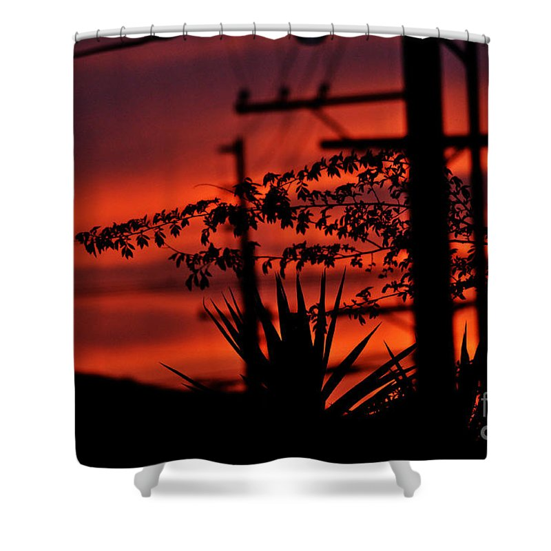 Clay Shower Curtain featuring the photograph Sunset On Socal Suburb by Clayton Bruster