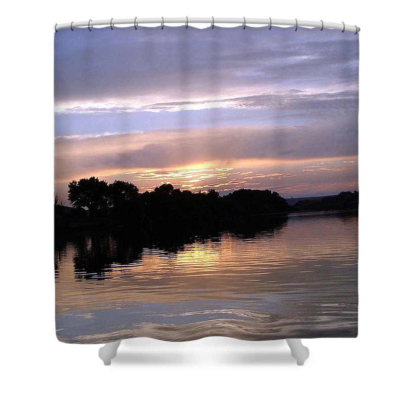 Snake River Shower Curtain featuring the photograph Sunset On The Snake by Dawn Blair