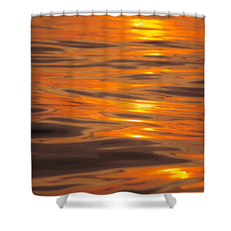 Afternoon Shower Curtain featuring the photograph Sunset Orange by Erik Aeder - Printscapes