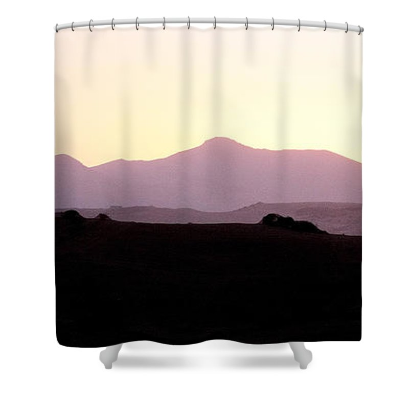 Spain Shower Curtain featuring the photograph Sunset Over The Andalucian Mountains Near Villanueva De La Concepcion by Mal Bray