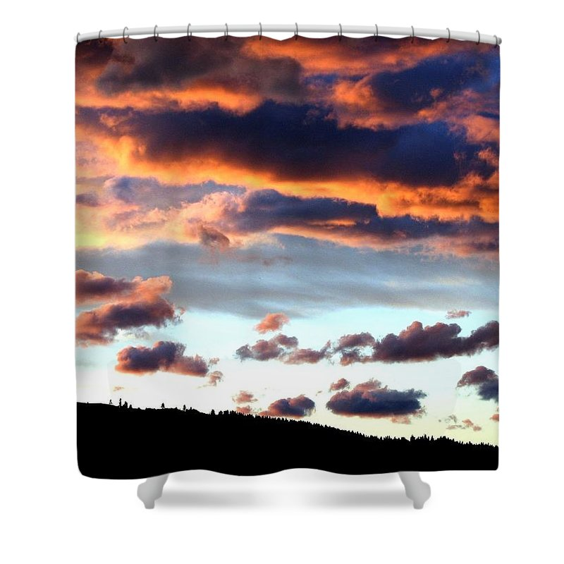 Sunset Shower Curtain featuring the photograph Sunset Supreme by Will Borden