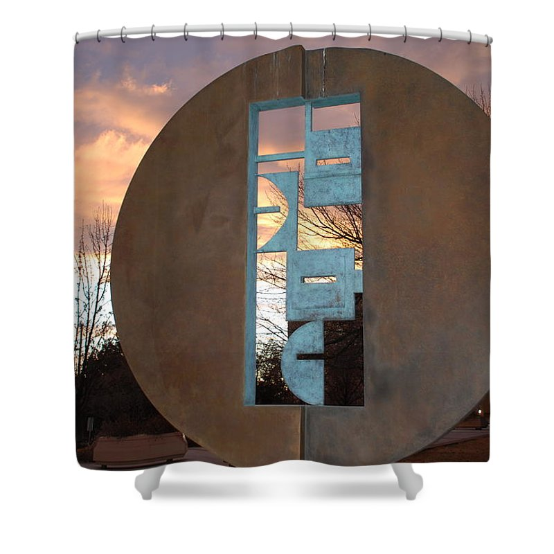 Pop Art Shower Curtain featuring the photograph Sunset Thru Art by Rob Hans