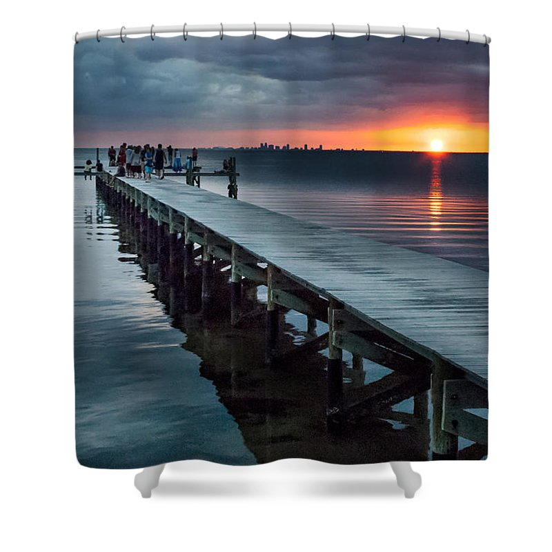 Sunset Shower Curtain featuring the photograph Sunset Watch by Norman Johnson
