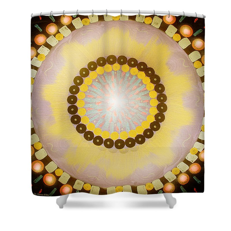 Mandala Shower Curtain featuring the painting Sunshine Mandala by Gina De Gorna