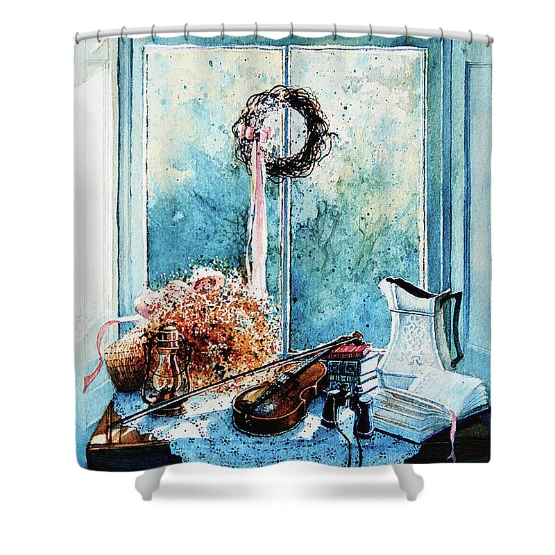 Sunshine Treasures Still Life Shower Curtain featuring the painting Sunshine Treasures by Hanne Lore Koehler