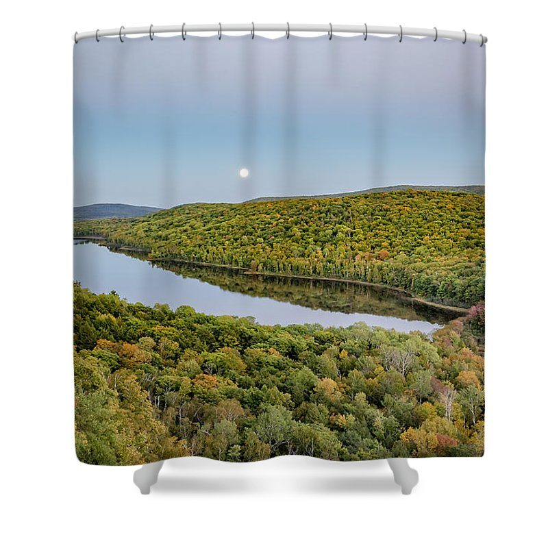 Nighttime Shower Curtain featuring the photograph Super Moon Rise Sept. 27, 2015 by Jack R Perry