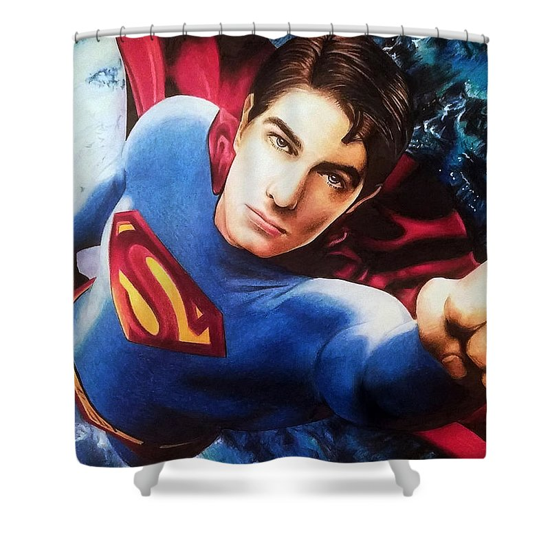 Superman Returns - Brandon Routh Shower Curtain