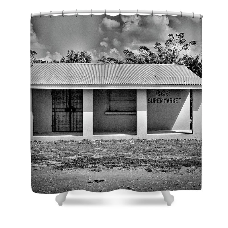 Belize Shower Curtain featuring the photograph Supermarket by Jessica Levant