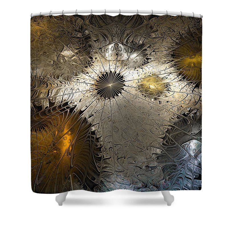 Anstract Shower Curtain featuring the digital art Suppression Of Independent Thought by Casey Kotas