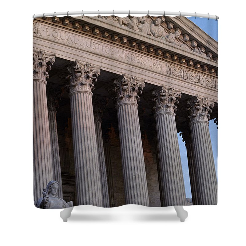 Supreme Court Shower Curtain featuring the photograph Supreme Court Building by Kenneth Garrett