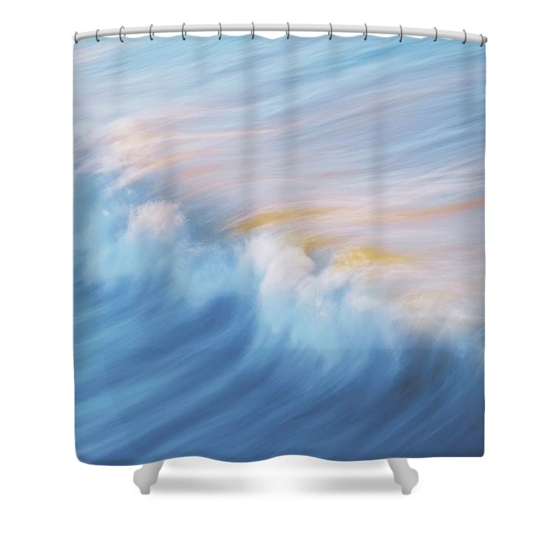 Wave Front Shower Curtain featuring the photograph Surf Break at Pismo Beach, California by Zayne Diamond Photographic