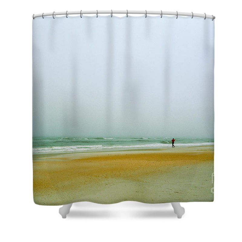 Nature Shower Curtain featuring the photograph Surf Fishing On Florida's East Coast by John Harmon