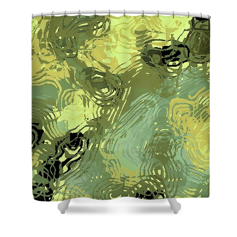 Digital Altered Photo Shower Curtain featuring the digital art Surface Of An Ohio Creek by Tim Richards