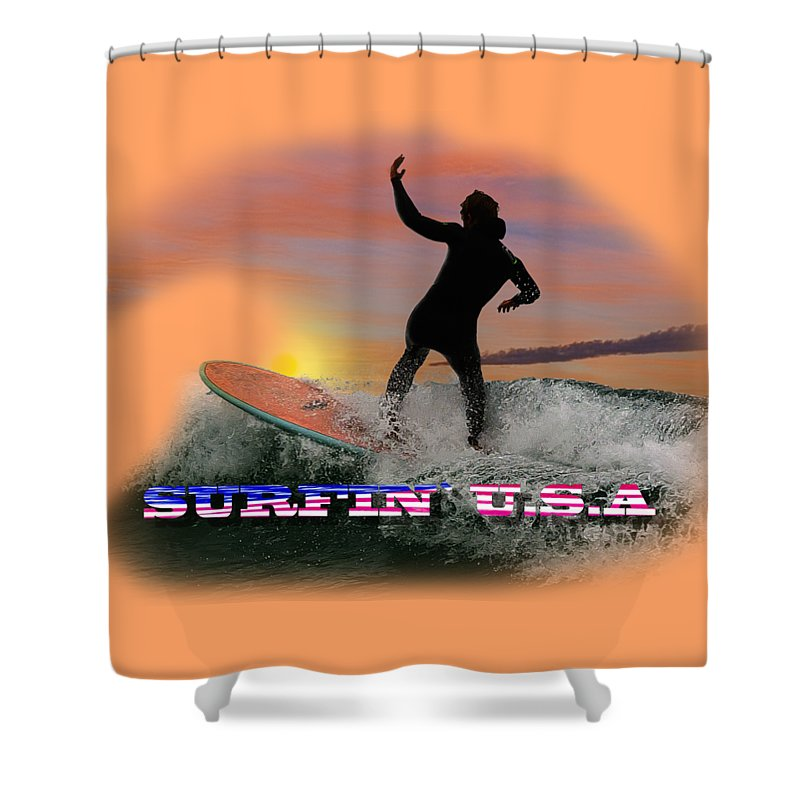 Surfing Shower Curtain featuring the photograph Surfing U.s.a. by Rob Lester