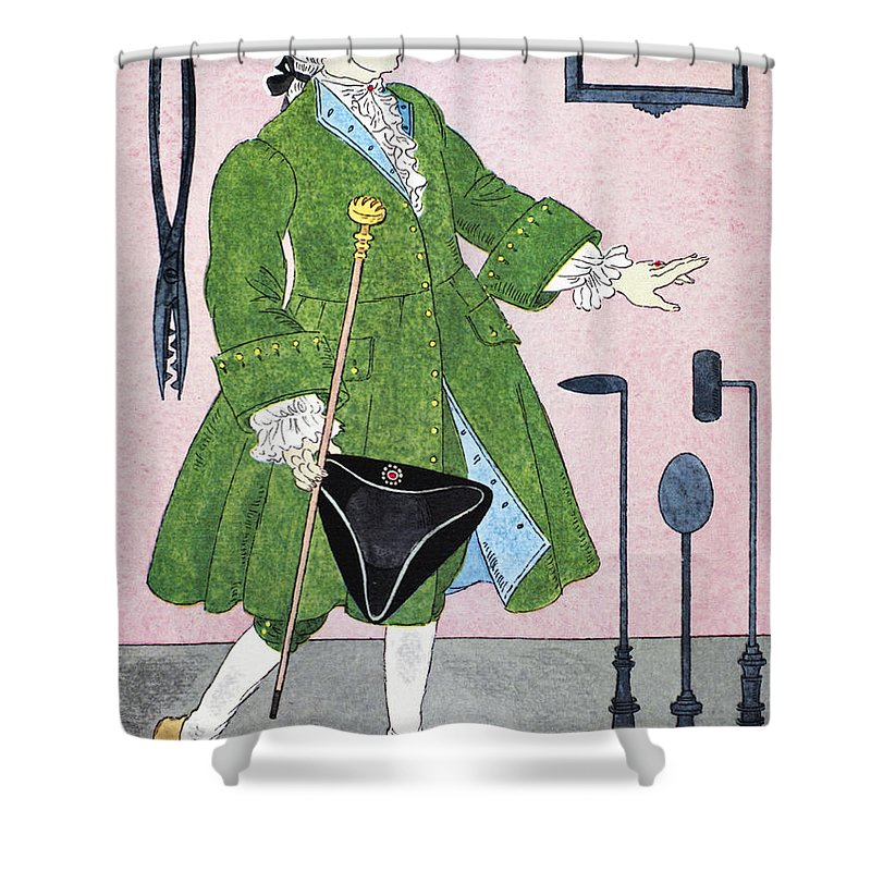18th Century Shower Curtain featuring the photograph Surgeon, 18th Century by Granger