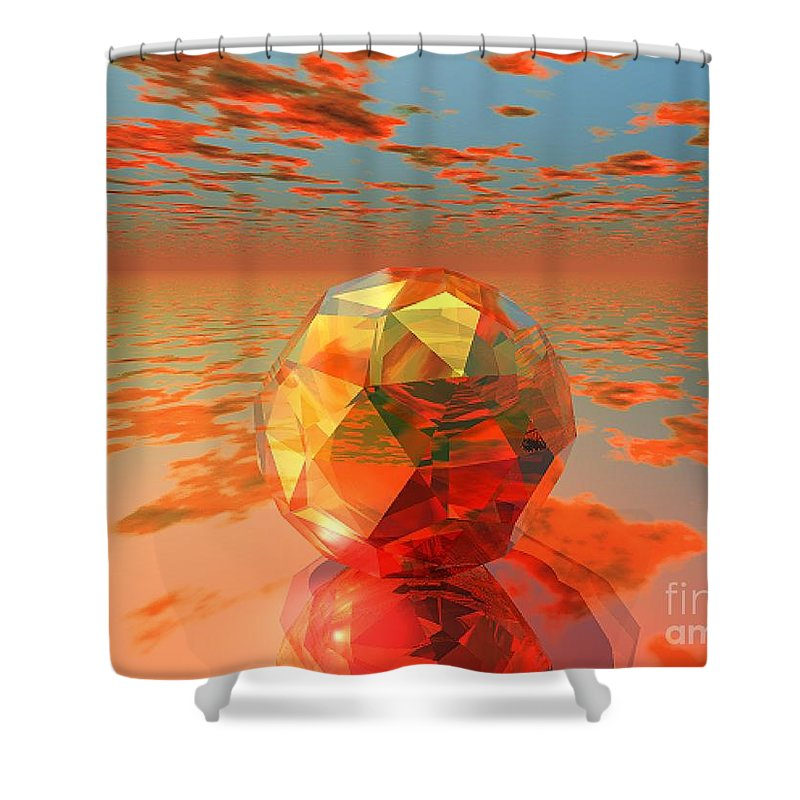 Surreal Shower Curtain featuring the digital art Surreal Dawn by Oscar Basurto Carbonell