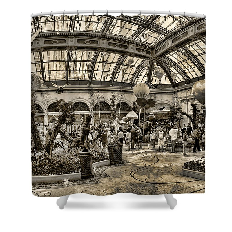 Floral Shower Curtain featuring the photograph Surreal Gardens by Ricky Barnard