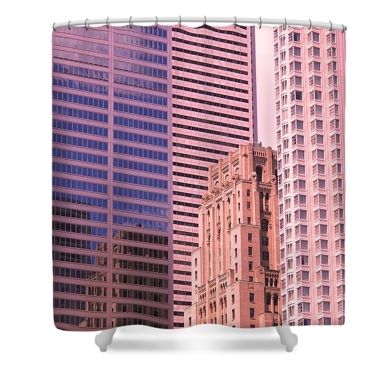 Office Buildings Shower Curtain featuring the photograph Surrounded by Ian MacDonald