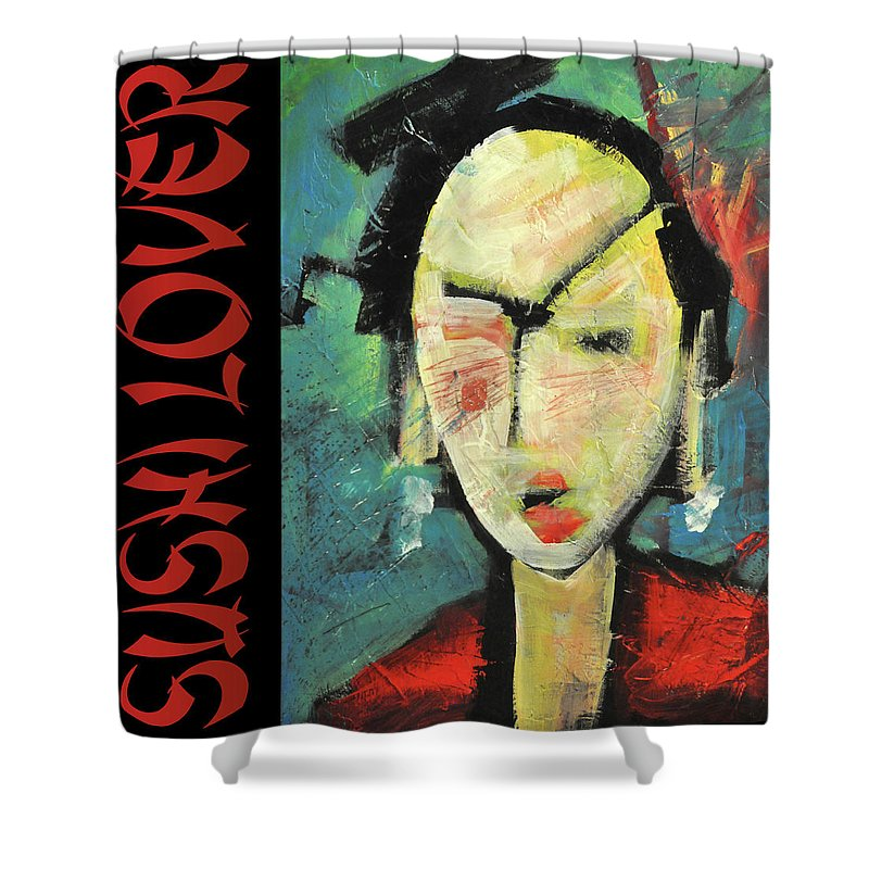 Sushi Shower Curtain featuring the painting Sushi Lover by Tim Nyberg